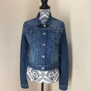 Rich & skinny medium vintage wash denim jacket